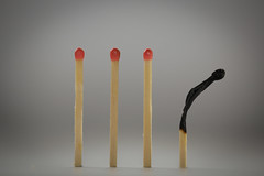 matches (jumpandwave) Tags: macro canon burnt matches mondays spent oneofthesethingsisnotliketheother macromondays jumpandwave