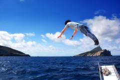 Mallorca - Isla Dragonera - Salto - Saut - Jump (COLINA PACO) Tags: boy sea mer photomanipulation photoshop island mar jump mare salto chico saute mallorca isla islas isola le dragonera fotomanipulacin maiorca isole muchacho islasbaleares