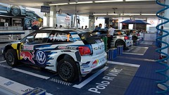 VW Garage (Keith_Burke) Tags: ford tarmac vw volkswagen nikon fiesta rally citroen july poland racing wrc hyundai polo gravel skoda i20 fabia ds3 polski rallying rajd 2015 mikolajki worldrallychampionship d7100