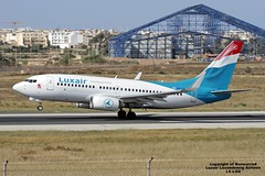 LX-LGQ LMML 17-04-2016 (Burmarrad (Mark) Camenzuli) Tags: cn aircraft airline boeing luxembourg airlines registration luxair lmml 33802 7377c9 lxlgq 17042016