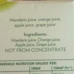 Mandarin juice, orange juice, apple juice, grape juice (LoopZilla) Tags: square squareformat unknown iphoneography instagramapp uploaded:by=instagram