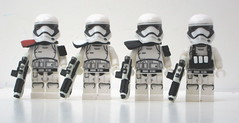 Stormtroopers First Order III (Blacktron2011) Tags: star order force lego first figure stormtrooper wars custom heavy gunner commander awakens