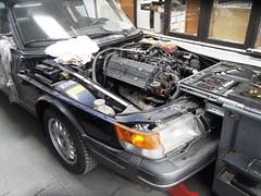 A 1992 Saab Convertible, avaiting final assembly (Nicholas1963) Tags: club utrecht nederland rob rootes arijansen