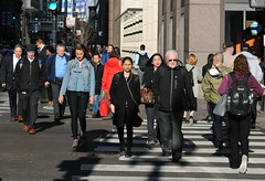 Chicago morning rush to work. (Cragin Spring) Tags: street city people urban usa chicago men walking illinois spring women midwest downtown unitedstates loop unitedstatesofamerica chitown sunny il rushhour chicagoloop chicagoillinois chicagoil windycity
