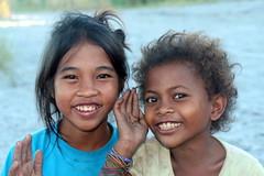 Two Cheeky Smiles (Alan1954) Tags: two portrait children asia philippines smiles ayta