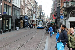 Amsterdam, Leidsestraat with tram line 1 (Davydutchy) Tags: holland netherlands amsterdam canal trolley capital hauptstadt nederland tram streetcar paysbas niederlande gracht hoofdstad strasenbahn