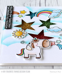 Rainbow and Unicorn! (RejoicingCrafts) Tags: glitter cards rainbow handmade stamp stamping unicorn myfavoritethings papercrafts handmadecard cardmaking mft mftstamps