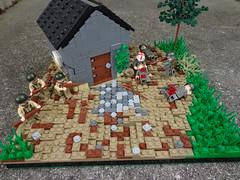 Ambushed (JW_Productions) Tags: world france war lego outdoor wwii ii german american patrol skirmish 1944