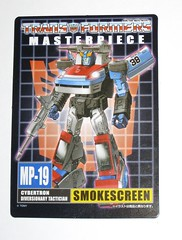 smokescreen transformers masterpiece mp 19 takara tomy 2012 collector card a (tjparkside) Tags: eye car race t one 1 robot nissan transformer g rally rifle style more bumper card jamming transformers weapon than vehicle g1 z mp tt custom 19 takara eight generation weapons tomy autobot meets collector masterpiece 38 2012 launcher spoiler autobots fairlady 280 280zx thirty smokescreen 280z launchers 2014 cybertron diversionary disruptor misb tactician airdam 280zt