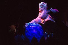 Ursula sings her spell (CptSpeedy) Tags: world black smile drag dress little sony magic evil kingdom disney spell queen divine wicked octopus animated mermaid alpha wdw walt villain animatronic magickingdom tentacles