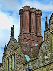 Tudor-era chimney at Knole House in Sevenoaks, Kent, England (mharrsch) Tags: park chimney england house castle architecture kent estate realestate royal palace tudor mansion nationaltrust sackville sevenoaks knolehouse countryestate mharrsch