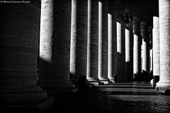 Colonnade 1 IMGP1213_tiff_DxO+cc+se_arch_wat (shammuramat (on/off sorry, be bk soon)) Tags: blackandwhite bw rome roma monochrome architecture column sanpietro bernini bnw colonnade stpeter saintpeter colonnato smcpentaxf28mm128 pentaxf2828