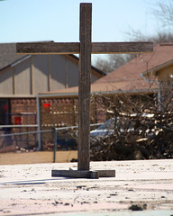 Photo Challenge, 21 of 365 (McKenzie's Photography) Tags: new sign outside texas cross outdoor tx victim faith religion beginning believe tornado rockwall survivor ending