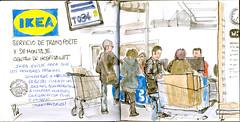 Ikea (Fotero) Tags: barcelona ikea watercolor email acuarela dibujo usk compras cuaderno hospitalet urbansketch urbansketchers cuaderno9