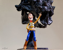 Woody and the Dracorex (berXpert) Tags: toy us unitedstates indianapolis woody indiana childrenmuseum revoltech dracorex