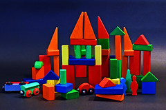 Color at Play (mootsie) Tags: blue red color building green colors toys play imagine blocks build primary lowcontrast infocus mediumquality