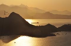 seu outro lado... (Ruby Ferreira ) Tags: sunset brazil mountains brasil bay ship silhouettes prdosol layers tug parquedacidade silhuetas baadaguanabara rebocador notreatment niterirj morrodavirao