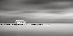 On Anchor Bay - 2:1 (Jeff Gaydash) Tags: longexposure blackandwhite water seascapes panoramic greatlakes lakescapes nd110