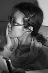 Van, tolerating my lighting experiments (Joel Bischoff) Tags: portrait blackandwhite female offcameraflash nikoncls sb900 nikondf
