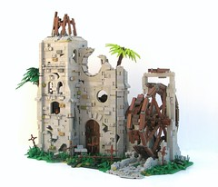 TT:R3: Isla Cruces (W. Navarre) Tags: castle water wheel lego pirate link tourney moc