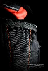 """Case Logic Details"" (Alejandro717) Tags: orange black contrast nikon case textile logic d3200"