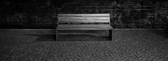 Bad Mnstereifel #2 (bahnbekloppter) Tags: city bw white black monochrome stone wall bench four lumix blackwhite dorf village wand bad bank rail panasonic steine cobble micro stadt sw g6 monochrom railing schwarz mauer pflaster thirds gelnder weis gemuer mft schwarzweis mauerwerk 1442 mnstereifel microfourthirds