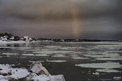 the former Princess of Acadia gets a visit from a Sunrise Rainbow (Rob Romard) Tags: ocean colour ice sunrise rainbow atlantic