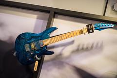 Aristides 060 Blue Marble (paul_ouzounov) Tags: musician music shop guitar bare knuckle guitars jackson custom esp prs namm kiesel 2016 carvin strandberg aristides zeiss55mm sonya7 namm2016