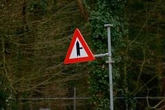 Junction ahead! (leunkstar) Tags: road red slr analog vintage nikon focus traffic junction pole pre 25 roadsign manual 105 yield nikkor crossroad crossroads trafficsign ai alert bord ais preai verkeersbord paal 105mm nikkor105mm nikonian d90 nikonlenses voorrang nikon105mm b05 rvv 105mm25 nikond90 mflenses voorrangsbord