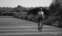 Andare via. (Alessandro Photo - ALPH) Tags: europa italia campagna ciclismo puglia bari biancoenero bicicletta palese bitonto