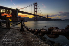 SUNSET IN SAN FRANCISCO (ptalamy) Tags: ocean california city travel blue light sunset sea summer sky sun green beach water beautiful beauty architecture night clouds sunrise san francisco 500px