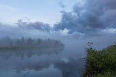 Through the Foggy Reflections (ken.krach (kjkmep)) Tags: grandtetonnationalpark oxbowbend