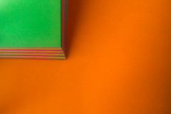 Orange and Green (Daren N.) Tags: orange color colour green paper minimalism squared macromondaysvibrant