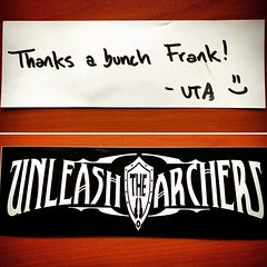 I wanna put this @unleashthearchers sticker somewhere, but hate to lose this personal message... (fpatten) Tags: this sticker message personal hate but lose somewhere wanna put i unleashthearchers