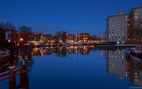 Groningen Oosterhaven at blue hour