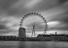 Neutral Eyes (Wormsmeat) Tags: longexposure london thames clouds river londoneye olympus ferriswheel countyhall neutraldensityfilter londonwakesup omdem5mk2