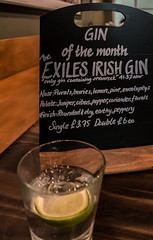 Gin of The Month - Exiles Irish Gin ( The Lemon Tree Pub - Charing Cross) (High ISO) Panasonic Lumix LX100 (markdbaynham) Tags: leica city urban london westminster lens lumix high zoom capital central panasonic iso fixed metropolis gin dmc 43rd compact 43 lx fourthirds evf lx100 2475mm f1728 lumixer