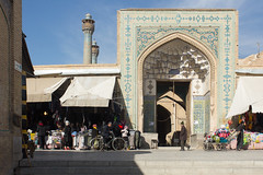 Entrance to Jameh mosque, Esfahan (D A Scott) Tags: iran persia mosque esfahan isfahan jameh