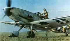 Hungarian Pilot climbs into cockpit of a  Messerschmitt Bf 109F-4 1943. (tormentor4555) Tags: cockpit bf pilot 1943 hungarian messerschmitt climbs 109f4