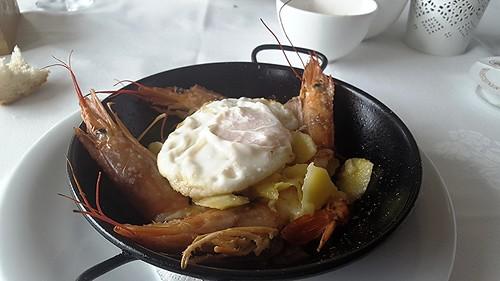 Cazuelita de Gambón. Restaurante Candela Puerto de Sagunto