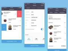 Mobile checkout process (ijstheedribbble) Tags: inspiration apple design tv graphic screensaver popular dribbble iftt