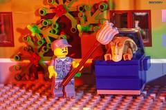 Cleaning Up (BrickSev) Tags: toy toys photography star restaurant starwars lego space 15 scifi jar series parody sciencefiction wars legostarwars tabletop parisian janitor binks minifigure jarjarbinks jarjar starwarsparody minifigures toyphotography series15 parisianrestaurant legoparody legophotography