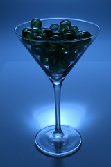 Marbles (Crisp-13) Tags: camera blue glass ball flash balls martini off cocktail marbles backlit marble gel