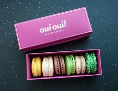 Oui Oui! Macarons (ladyjaysfc) Tags: pink food white green cookies dessert nikon sweet availablelight chocolate mint tasty delicious vanilla windowlight ouioui d700 ladyjaysfc