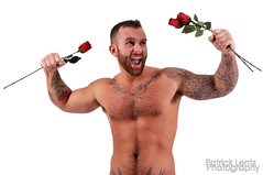 Valentine's Day with Nick Wagner 18 (Violentz) Tags: portrait hairy man male guy heart body muscle handsome bodybuilding fitness fury valentinesday physique tattooed patricklentzphotography nickwagner
