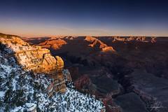 Snowy morning at Grand Canyon (Stefano Viola) Tags: morning travel usa snow nature america sunrise landscape grandcanyon natura canyon adventure neve viaggio paesaggio nuances sfumature d810