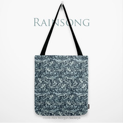 Rainsong.tote (Spellstone) Tags: wallpaper cloud love clock rain weather illustration design artist folkart poem pattern drawing song linen craft spot surfacedesign textile fabric cotton blanket mug rug decal cupid tote duvet throw giftwrap totebag damask 2016 bedset duvetcover fabricdesign alexmorgan spoonflower spellstone society6 fabriccollections