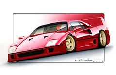 Ferrari F40 11x17 V2 PSD