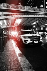 DSC00097 (thelastgoodbrother1) Tags: nyc blackandwhite monochrome lights manhattan police nypd flashing popo