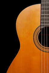 Classical Guitar (G-daddyArt) Tags: wood neck grain string soundhole rosette fingerboard ringlight alienbees strobist